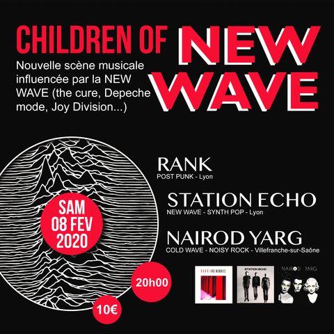 concert new wave, electro indie, post punk avec les groupes Nairod Yarg, Rank et Station Echo sur la scène du Quai 472