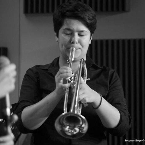 la jeune trompettiste Emilie Caumiel