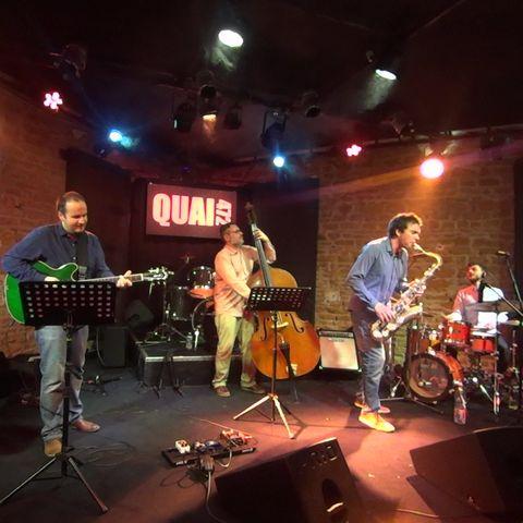 jazz from New York avec le quartet de Chris Assier en concert dans le jazz club de Villefranche