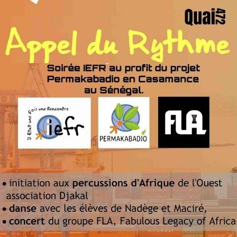 en partenariat avec la ville de Villefranche sur Saône, soirée au profit du projet Permakabadio